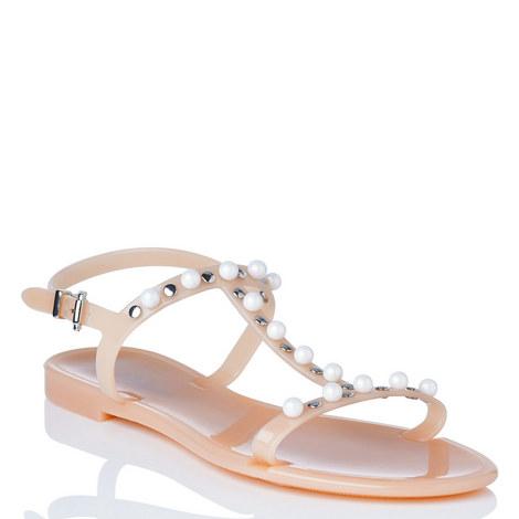 Freja Embellished Jelly Sandals, ${color}