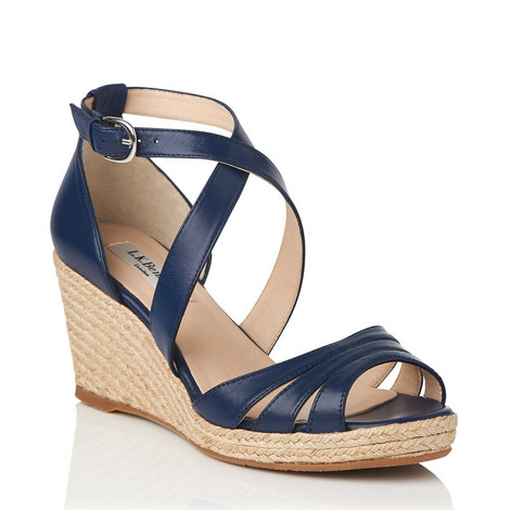 Priya Leather Espadrille Wedges, ${color}