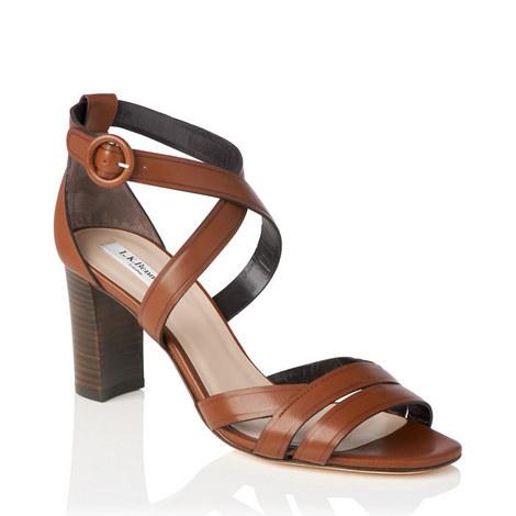 Clover Block Heel Sandals, ${color}