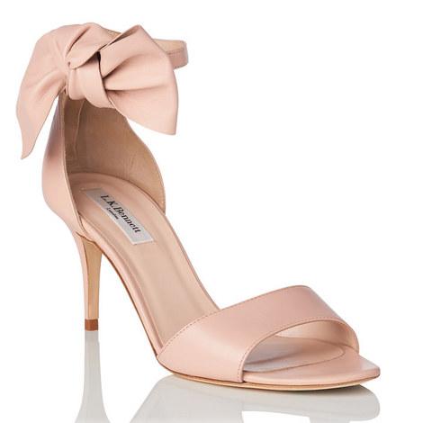 Agata Asymmetric Bow Sandals, ${color}