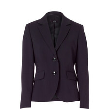 Single-Breasted Suit Blazer