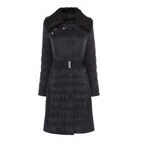 Belted Puffer Coat, ${color}