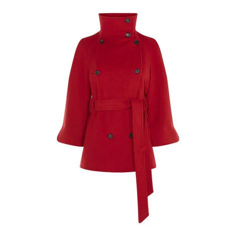 Belted Cape Jacket, ${color}