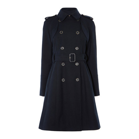 Compact Cotton Trench Coat, ${color}