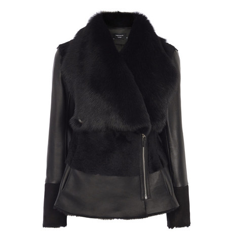 Shearling Waterfall Jacket, ${color}