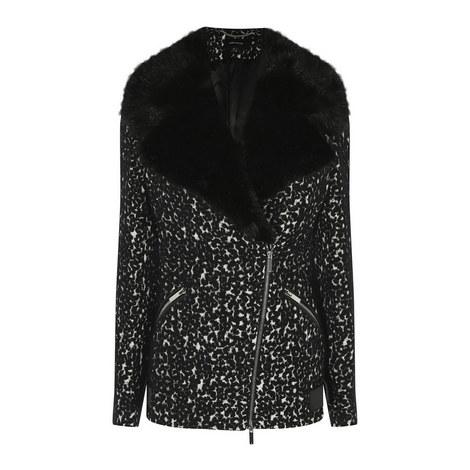 Leopard Print Biker Jacket, ${color}