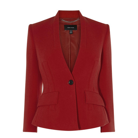 Corseted Single-Breasted Blazer, ${color}