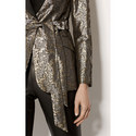 Jacquard Contrast Blazer, ${color}
