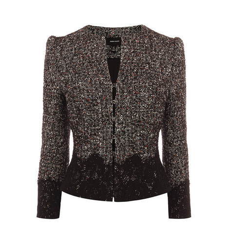 Tweed and Lace Jacket, ${color}