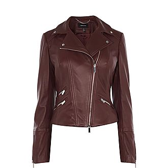 Signature Leather Biker Jacket