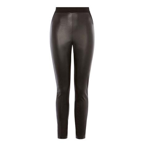 Faux Leather Contrast Legging, ${color}