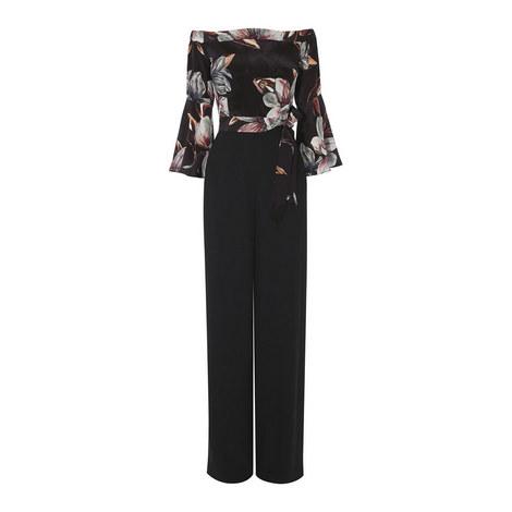 Silken Floral Jumpsuit, ${color}