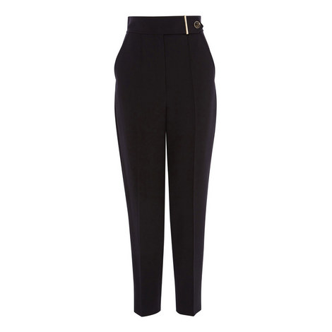 High Waist Tailored Trousers, ${color}