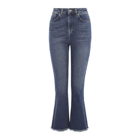 Kick Flare Frayed Jeans, ${color}