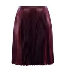 Pleated Wet Look Skirt