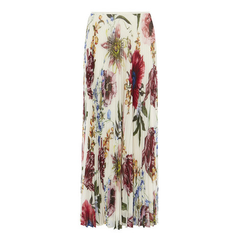 Botanical Bloom Pleated Maxi Skirt, ${color}