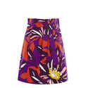 Paperbag Waist Cotton Skirt, ${color}