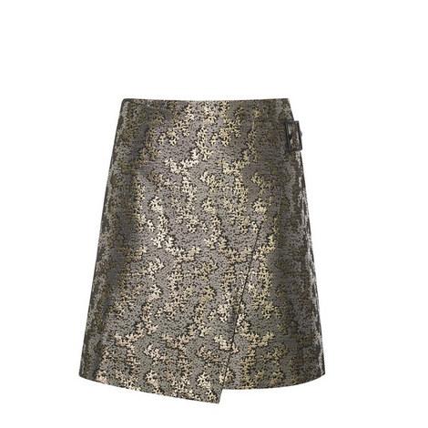 Jacquard Wrap Mini Skirt, ${color}