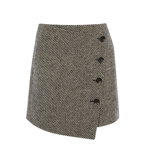 Tweed Button Mini Skirt, ${color}