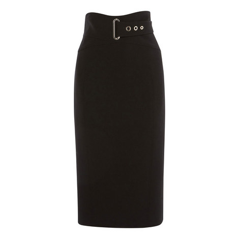 Belted Pencil Skirt, ${color}