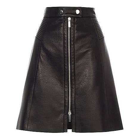 Faux Leather Mini Skirt, ${color}