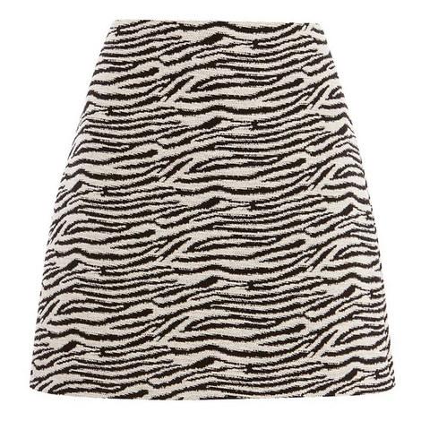 Zebra A-Line Skirt, ${color}