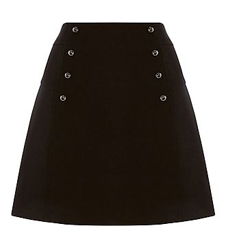 Button Detail Mini Skirt