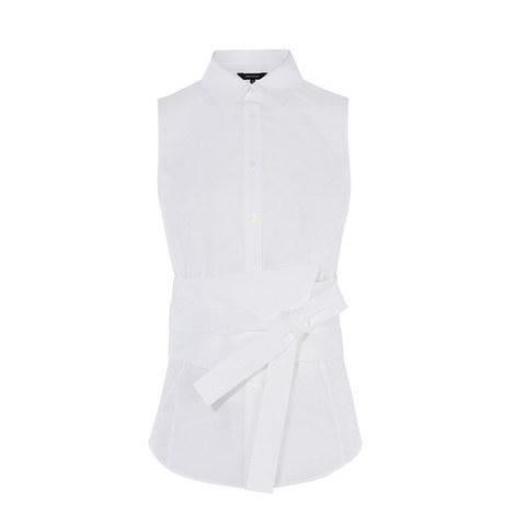 Deconstructed Sleeveless Shirt, ${color}