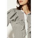 Ruffle Stripe Shirt, ${color}