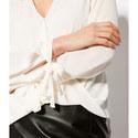 Wrap Tie Sleeve Blouse, ${color}