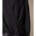Pinstripe Wrap Top, ${color}