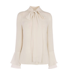 Pussy Bow Ruffle Blouse