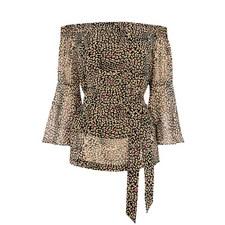 Leopard Bardot Top