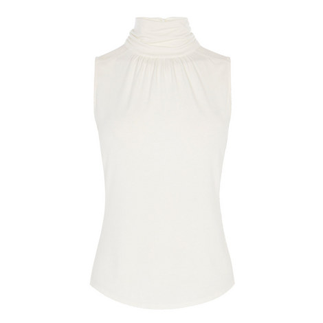 Sleeveless Turtleneck Top, ${color}