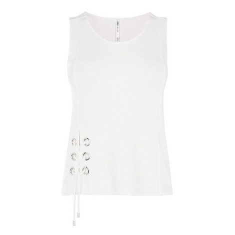 Eyelet Jersey Tank Top, ${color}