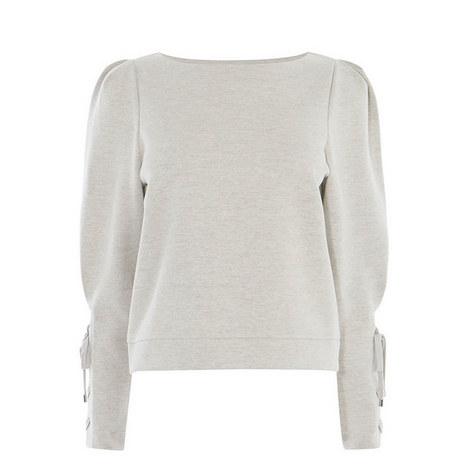 Eyelet Cuff Sweatshirt, ${color}