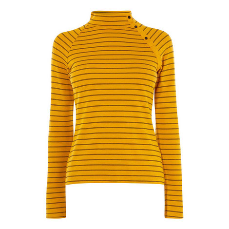 High Neck Striped Top, ${color}