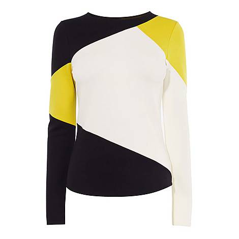 Colour Block Slim-Fit Top, ${color}