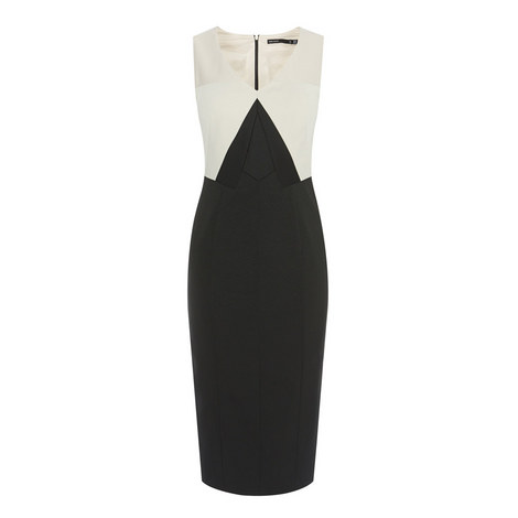 Colour Block Pencil Dress, ${color}
