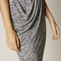 Draped Turtleneck Dress, ${color}