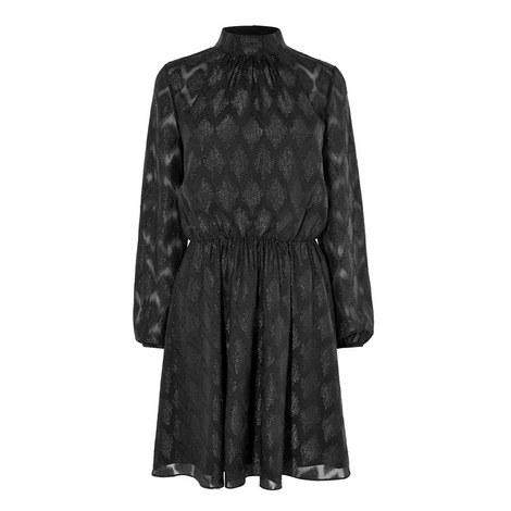 Chevron Jacquard Dress, ${color}