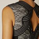 Lace Panel Pencil Dress, ${color}
