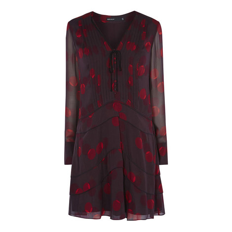 Polka Dot Tunic Dress, ${color}