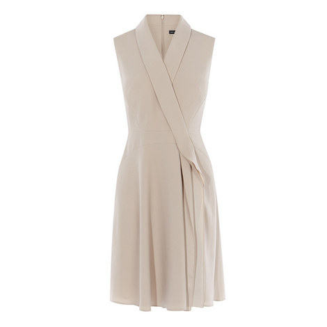 Draped Wrap Dress, ${color}