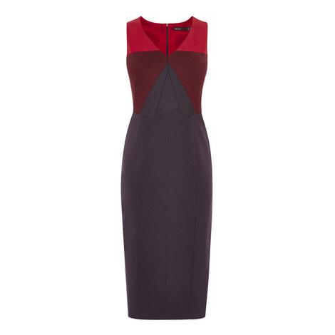Colour Block Pencil Dress, ${color}