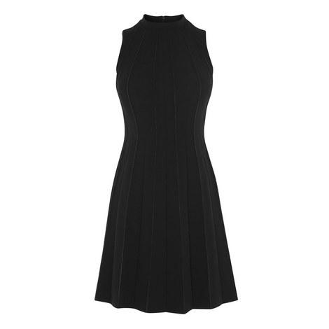 Seamed A-Line Dress, ${color}