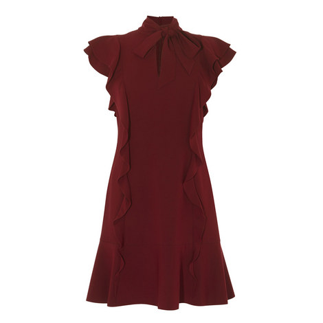 Ruffled Drop Waist Dress, ${color}