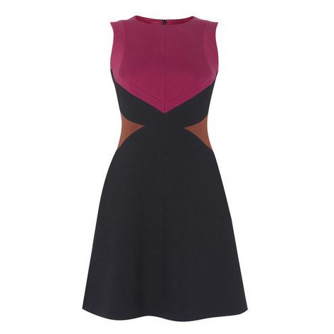 Graphic A-Line Dress, ${color}