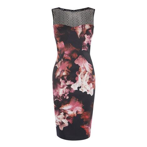 Floral Lace Pencil Dress, ${color}