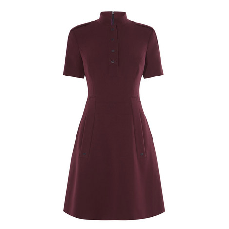 Mandarin Collar Dress, ${color}
